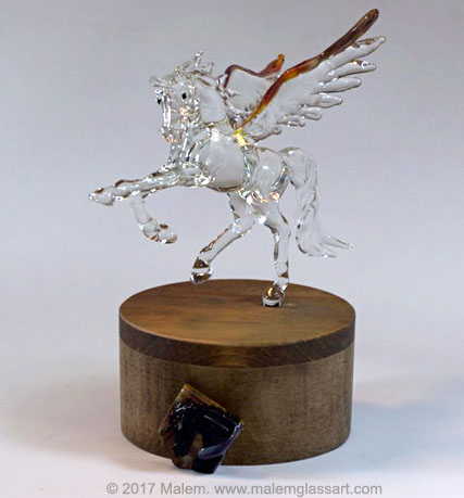Black Jack - Glass Horse Sculpture
