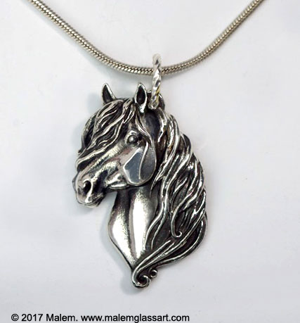 Canadian Horse Silver Pendant