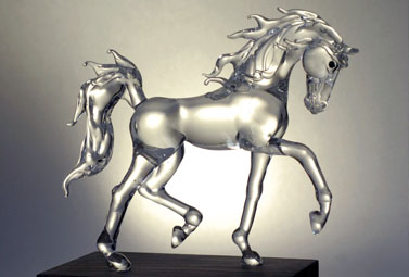 Malem Horse Glass Sculptures
